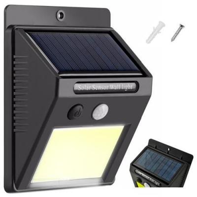 Lampa solara de perete cu 48 de leduri cu senzor de lumina si miscare [0]