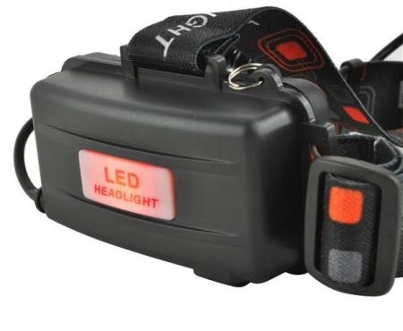 Lanterna de cap frontala CREE 3 leduri reincarcabila 220V +12V + reglabila 4 moduri5