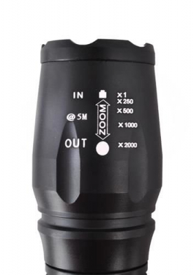 Lanterna LED CREE, vizibilitate 300 m, zoom x2000, acumulator 4800 mAh [8]