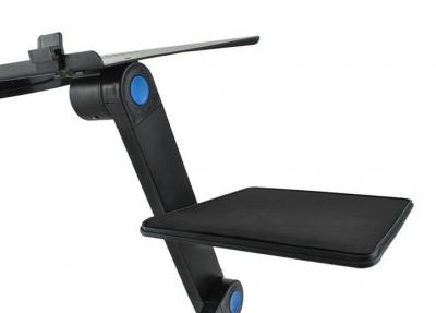 Masuta rabatabila pentru laptop inălțime reglabilă USB cooler răcire 27X48 cm  cu  Mouse  Pad negru [7]