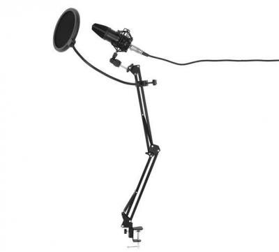 Microfon cu USB conectare PC cu stand inclus pentru Inregistrare Vocala, Streaming, Gaming, Karaoke1