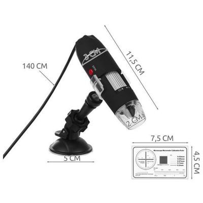 Microscop digital portabil 1600X, USB, foto-video, 8 LED-uri, zoom digital 5X [12]
