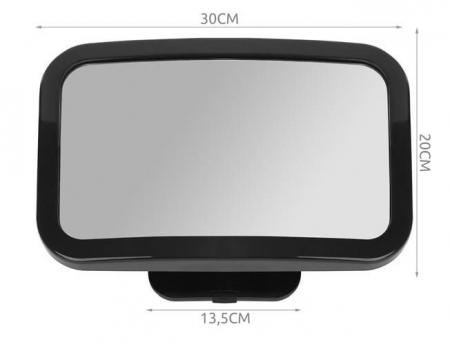 Oglinda auto vizibilitate bebe, retrovizoare montare tetiera, suprafata anti-alunecare, 30x18.7x2.5 cm10