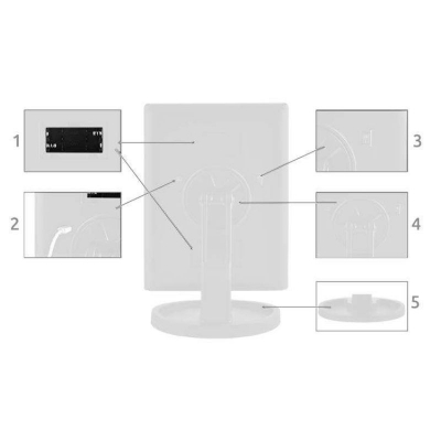 Oglinda cosmetica rotativa led  iluminare zoom 2 si 3 x alimentare usb si baterii alba [8]