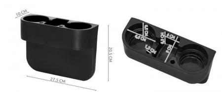 Organizator auto suport 2 pahare spatiu depozitare universal [5]