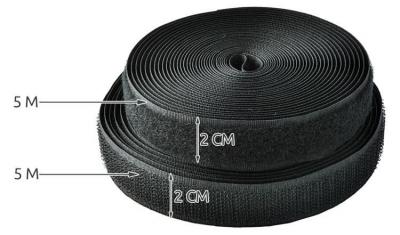 Organizator de cabluri cu scai  velcro  lungime 5m2