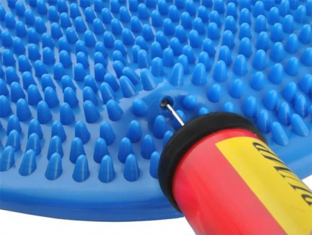 Perna pentru echilibru si masaj gonflabila, cu pompa, diametru 34 cm, albastru [6]