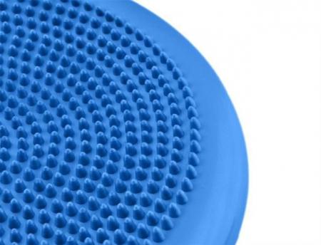 Perna pentru echilibru si masaj gonflabila, cu pompa, diametru 34 cm, albastru [3]