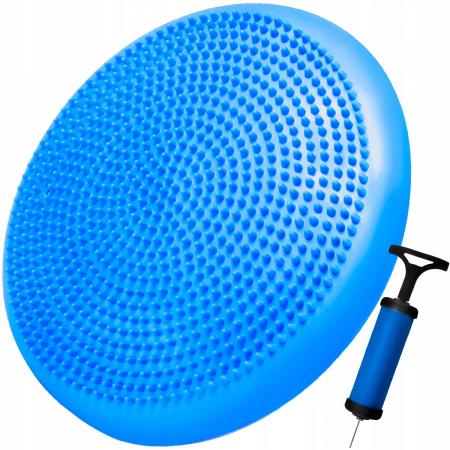 Perna pentru echilibru si masaj gonflabila, cu pompa, diametru 34 cm, albastru [0]