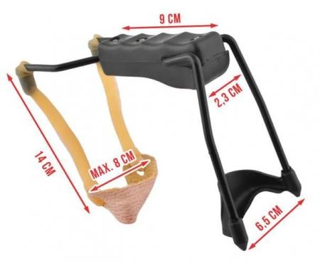 Prastie metal cu maner antiderapant cu suport antebrat si corzi elastice [13]
