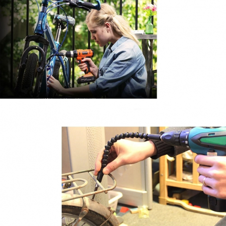Prelungitor bit extensie flexibil 1/4 lungime 190mm5