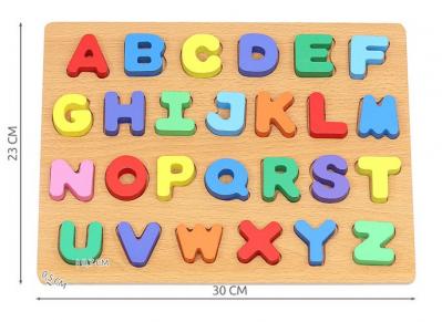 Puzzle Alfabet Complet pentru Copii ABC din Lemn Natural, Interactiv si Educativ [2]