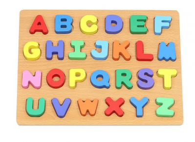 Puzzle Alfabet Complet pentru Copii ABC din Lemn Natural, Interactiv si Educativ [1]