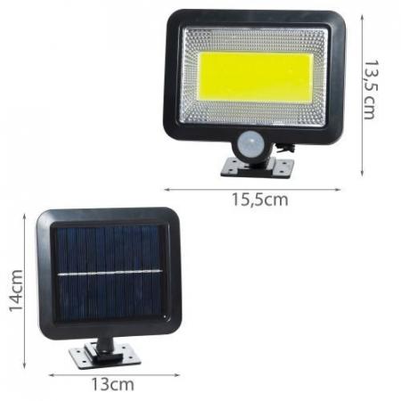 Reflector solar 100 LED-URI, Senzor de miscare  Raza 5 M, IP65 [5]