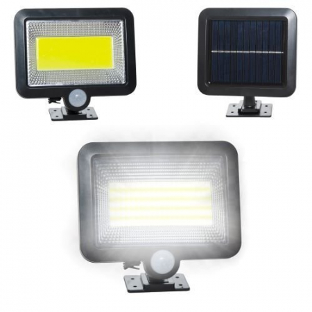 Reflector solar 100 LED-URI, Senzor de miscare  Raza 5 M, IP65 [0]