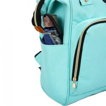 Rucsac geanta multifunctionala pentru mamici Living Traveling atasabil la carucior organizator articole bleu [5]