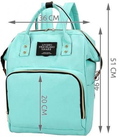 Rucsac geanta multifunctionala pentru mamici Living Traveling atasabil la carucior organizator articole bleu [8]