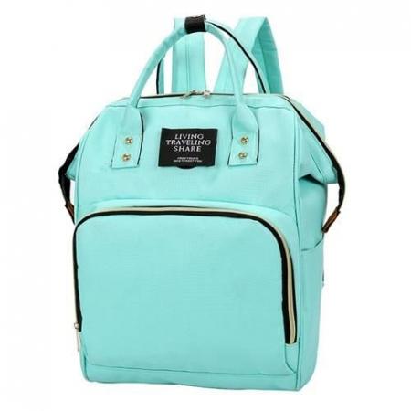 Rucsac geanta multifunctionala pentru mamici Living Traveling atasabil la carucior organizator articole bleu [0]