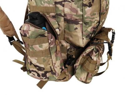 Rucsac militar 45L, 2 deschideri, 3 buzunare de camuflaj camping trekking [2]