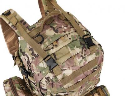 Rucsac militar 45L, 2 deschideri, 3 buzunare de camuflaj camping trekking [10]