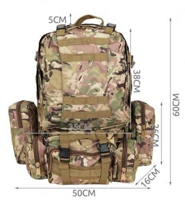 Rucsac militar 45L, 2 deschideri, 3 buzunare de camuflaj camping trekking [14]