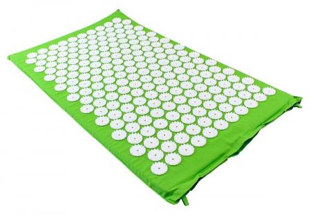 Saltea cu acupunctura si masaj ideala pentru dureri de spate relaxare oboseala 73x44 cm culoare verde [0]