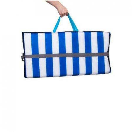Saltea pliabila pentru plaja sau picnic Impermeabila, poliester, Albastru [1]