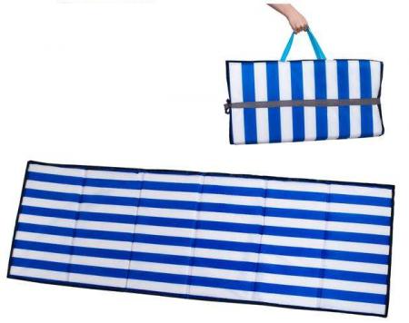 Saltea pliabila pentru plaja sau picnic Impermeabila, poliester, Albastru [0]