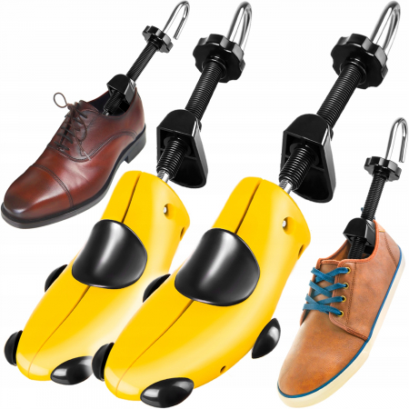 Set 2 sanuri reglabile pentru pantofi, cu arc din ABS , marimea 40-47 [0]