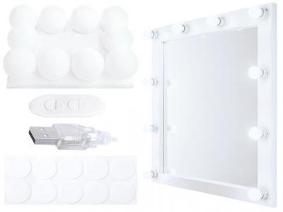 Set 10 becuri LED pentru Oglinda, cu 3 nuante de lumina si intensitate reglabila, cablu 5.2m [0]