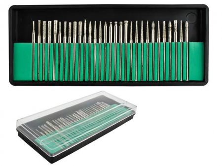 Set 30 Capete diamantate gravare frezare pentru pila electrica de unghii sau universal0