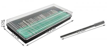 Set 30 Capete diamantate gravare frezare pentru pila electrica de unghii sau universal3