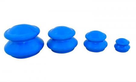 Set 4 ventuze chinezesti pentru tratarea bolilor Iso Trade, Cauciuc, Albastru [1]