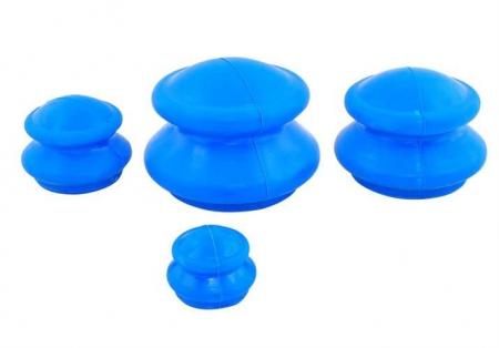 Set 4 ventuze chinezesti pentru tratarea bolilor Iso Trade, Cauciuc, Albastru [0]