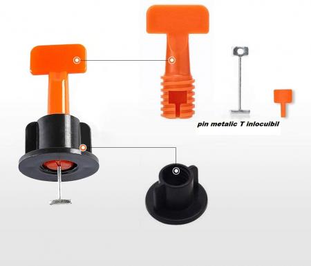 Set 50 tije metalice refolosibile, pentru rost de la 1.5 mm, sistem nivelare gresie si faianta [2]