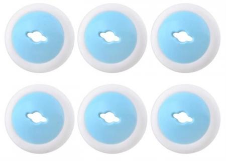 Set 6 protectii pentru priza  alb/albastru set 6 buc + 1 cheie1