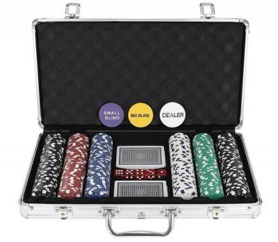 Set De Poker 300 Jetoane Servieta Aluminiu 5 Zaruri  2 Pachete Carti De Joc2
