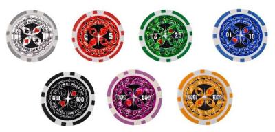 Set de poker cu 500 jetoane greutate jeton 13g include servieta aluminiu 5 zaruri 2 pachete carti de joc [5]