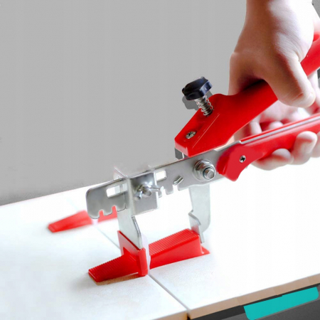 Pachet nivelare gresie  - 651 bucati contine 200 clipsuri 1 mm ,200 clipsuri 1.5 mm 100 clipsuri 2 mm 150 pene + cleste [4]