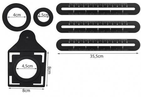 Sistem pliabil sablon din  aluminiu trasare gauri placi ceramice 3x300mm [3]