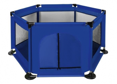 Spatiu de joaca tarc pentru copii tip piscina pliabil dimensiune 115x65 cm culoare Albastru inchis [0]