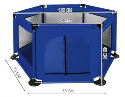 Spatiu de joaca tarc pentru copii tip piscina pliabil dimensiune 115x65 cm culoare Albastru inchis [6]