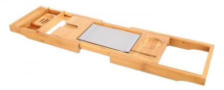 Suport extensibil cada, bambus, 75-112 cm [7]