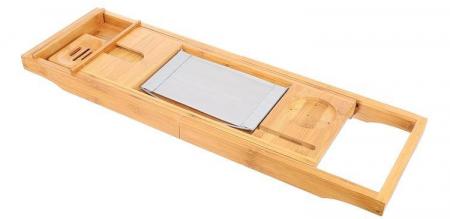 Suport extensibil cada, bambus, 75-112 cm [1]