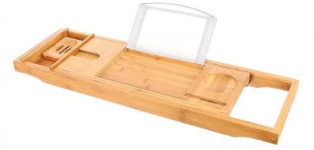 Suport extensibil cada, bambus, 75-112 cm [2]