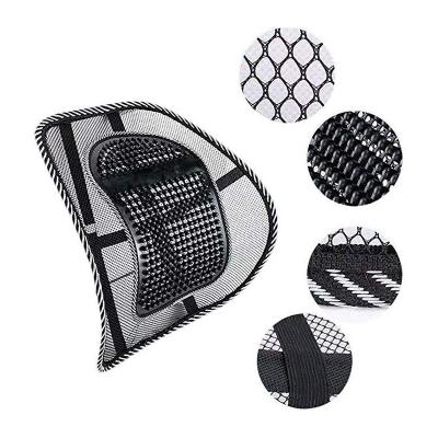 Suport lombar pentru scaun birou si auto cu bile masaj prindere cu benzi elastice7