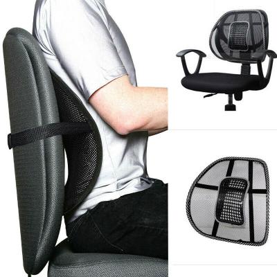 Suport lombar pentru scaun birou si auto cu bile masaj prindere cu benzi elastice4