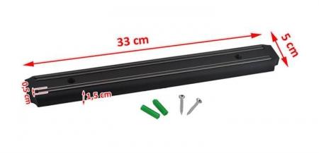 Suport magnetic pentru bucatarie,garaj  fixare perete, accesorii montare, 33x5 cm [2]