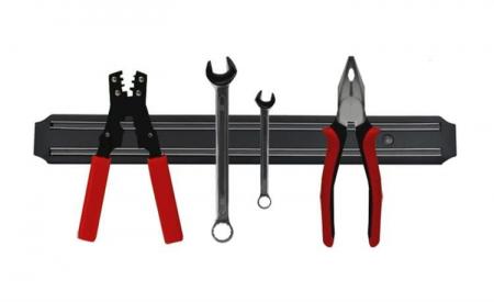 Suport magnetic pentru bucatarie,garaj  fixare perete, accesorii montare, 33x5 cm [3]