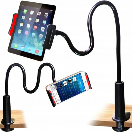 Suport flexibil  pentru telefon sau tableta intre 11-15cm, rotire 360, lungime 75 cm [0]